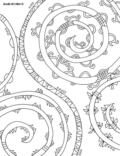 abstract coloring pages doodle art alley coloring