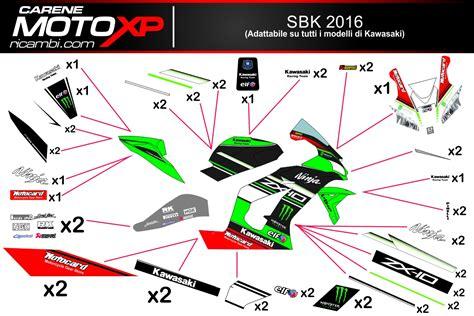 Kawasaki Wsbk Sticker Kit by Grafiken Kawasaki Sbk 2016 Superbike Racing