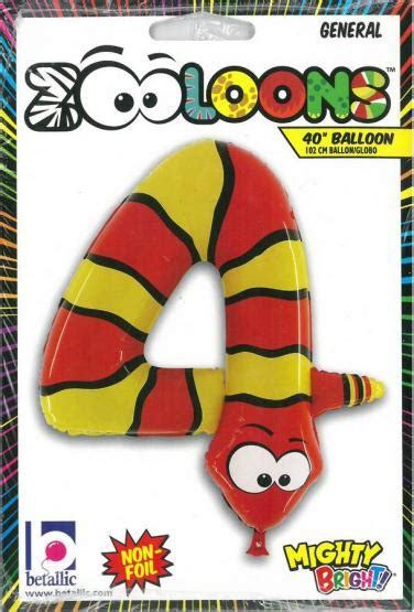 Limited Balon Foil 42 X 65 Cm karaloon shop 1 foil balloon number 0 snake