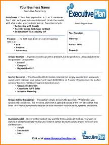 Executive Summary Template For Business Plan 9 business plan executive summary template farmer resume