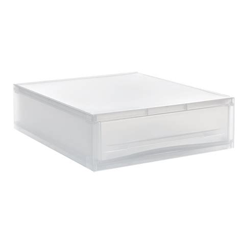 translucent stacking paper drawer the container store