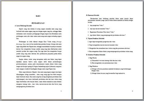 format makalah doc contoh makalah valuta asing contoh makalah docx