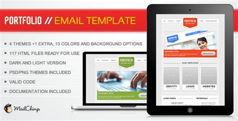 themeforest email templates portfolio email template themeforest