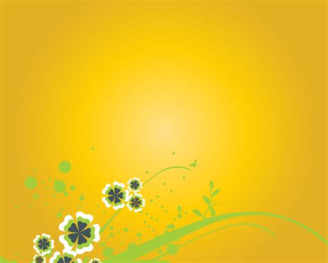 Free Orange Color Flower Backgrounds For Powerpoint Colorful Floral Powerpoint Templates Flowers Orange