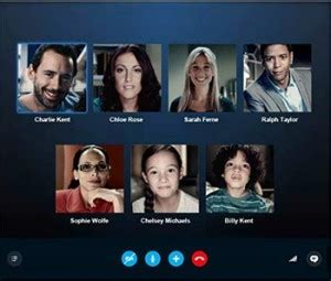 video call layout skype group gallery