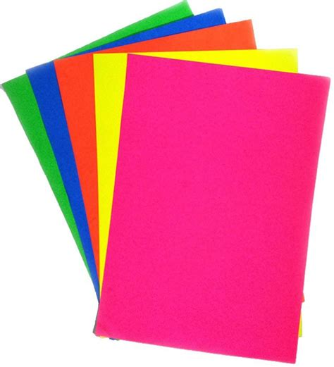 Paper By - flipkart ziggle fluorescent unruled a4 craft paper