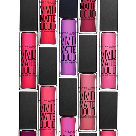 Maybelline Matte Liquid color sensational matte liquid lipstick maybelline