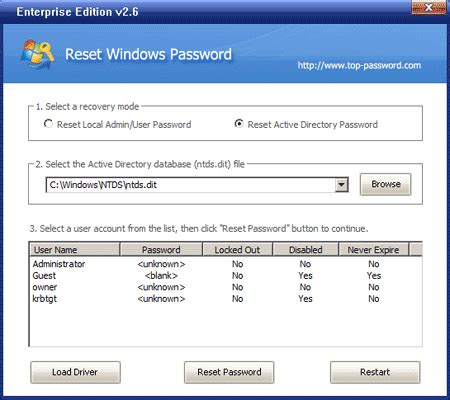 reset windows password on parallels pcunlocker ex reset windows password 3 8 scarica