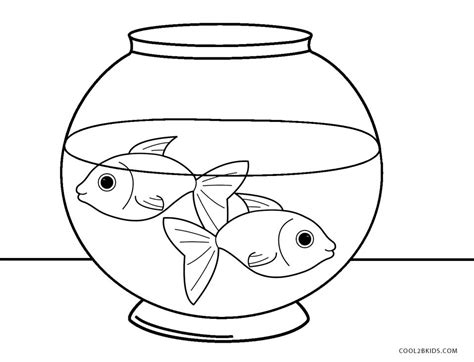 coloring pages fish bowl free printable fish coloring pages for kids cool2bkids