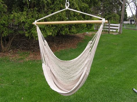 Chair Hammock Swing by Deluxe Large White Rope Cotton Hammock Swing Chair