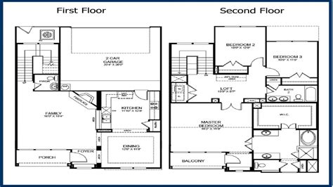 2 floor plans 2 story master bedroom 2 story 3 bedroom floor plans 2