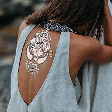 flash tattoo in dubai premium henna metallic flash tattoos gold rose gold