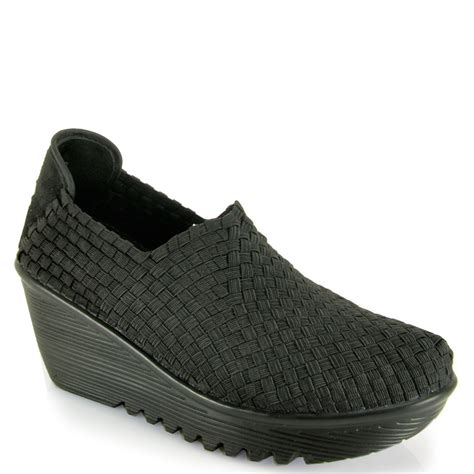 bernie mev gem woven wedge at footnotesonline s