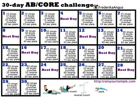 30 ab and workout challenge your temple