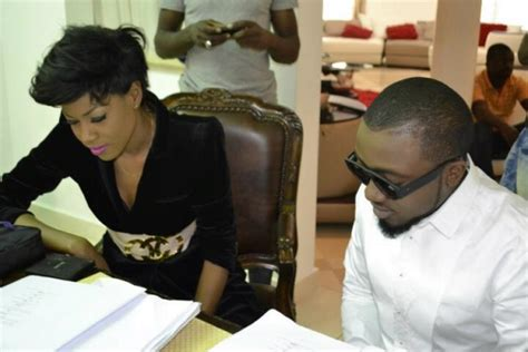 back view of weavon cutting for yvonne nelson short hair ice prince omawumi star in yvonne nelson s movie house