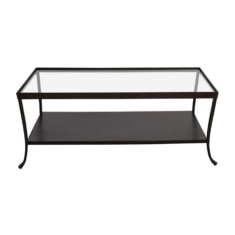 Glass Top Metal Coffee Table Glass Top Coffee Table With Metal Base