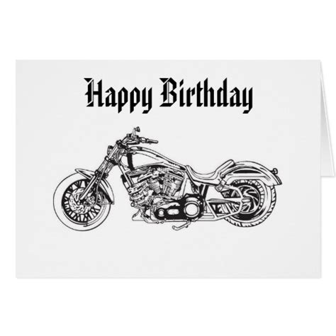 Happy Birthday Wishes For Bikers Motorcycle 1 Happy Birthday Greeting Card Zazzle