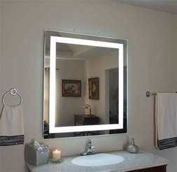 lighted mirrors for bathroom mam83648 36 quot w x 48 quot t lighted vanity mirror wall mounted