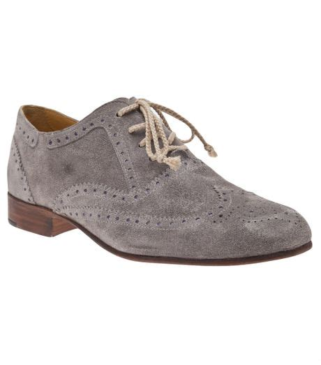 gray oxford shoes esquivel davis oxford shoe in gray grey lyst