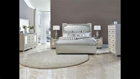 bel air park glam bedroom set  michael amini jane seymour aico home gallery stores youtube