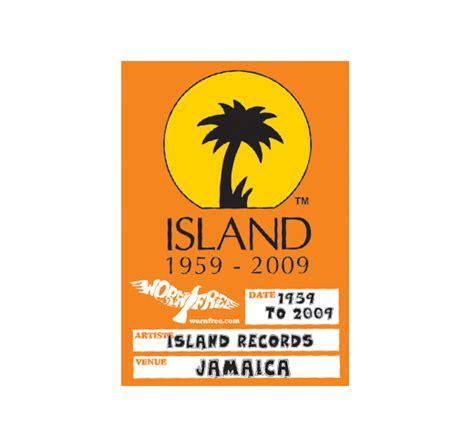 Records Island Worn Free Island Records Logo Sweatshirt Royal Rudy