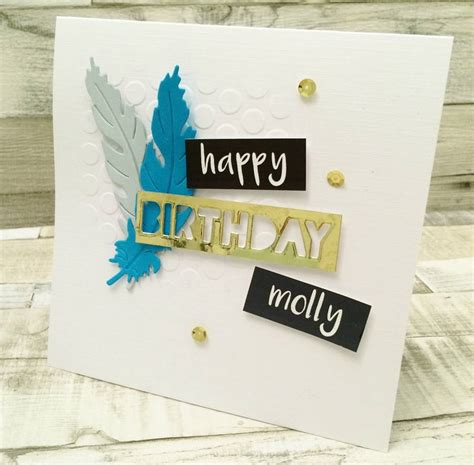 Modern Birthday Cards Modern Feather Birthday Card By Thoughts Of You