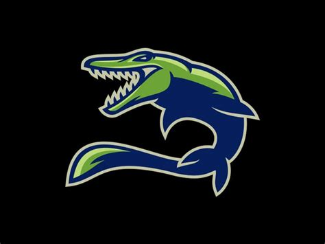 Mosasaur... rawr! | Logos and Sports logos