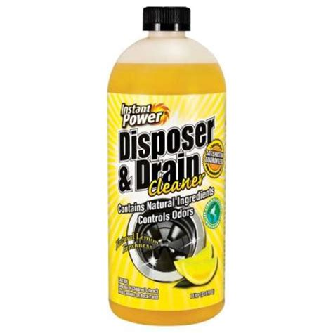 Home Depot 1501 instant power 33 8 oz disposal and drain cleaner lemon