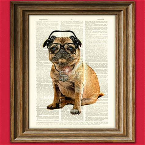 walrus pug dictionary page print aristocrat from collageorama on etsy