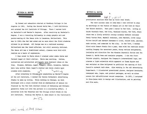 artist biography vs statement goto byron selected document artasiamerica a