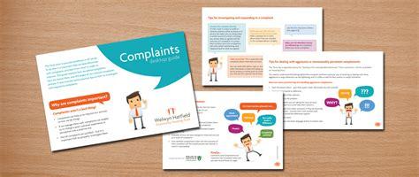 booklet layout guide welwyn hatfield complaints booklet design