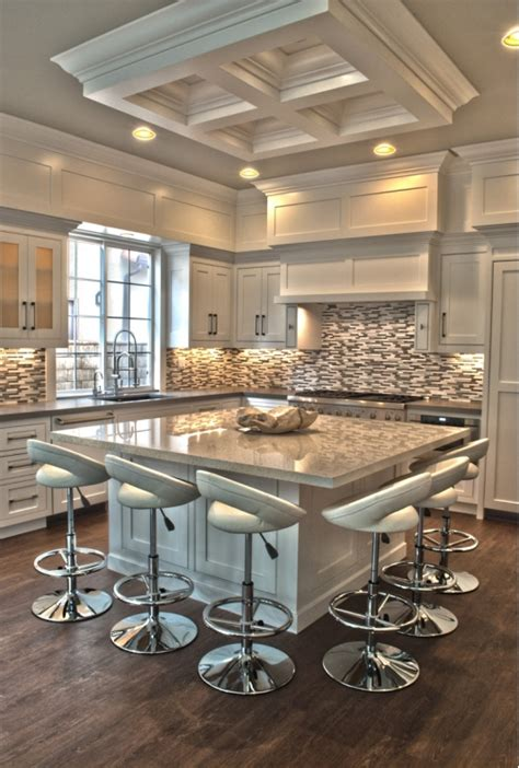 The Whole Kitchen by White White Everywhere Do You Like An All White Kitchen And Check Out The Island