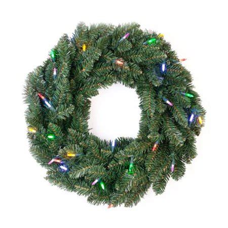 wal mart battery operated wreaths with timer gki bethlehem lighting 24 quot knoll battery operated wreath with 30 multicolor lights