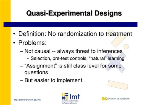 quasi design meaning ppt measuring effectiveness in mathematics education for