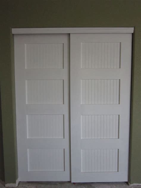 Closet Doors by White Bypass Closet Doors Diy Projects