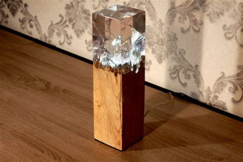 Lamp Designer filling the void 25 resin inlaid wood furniture designs