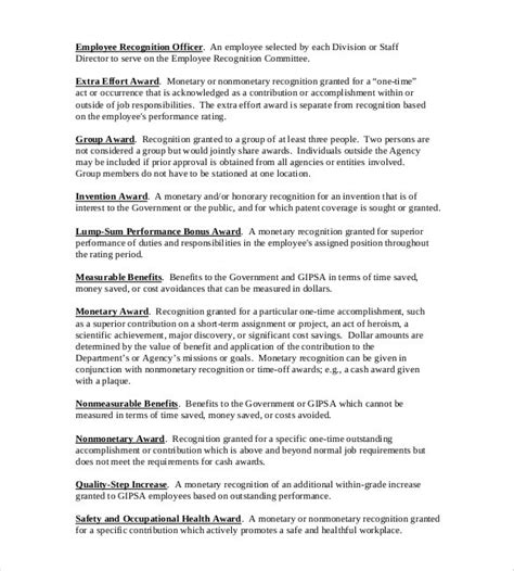Award Letter Pdf employee recognition bonus letter sle docoments ojazlink