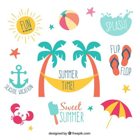 design summer year definition summer labels vector free download
