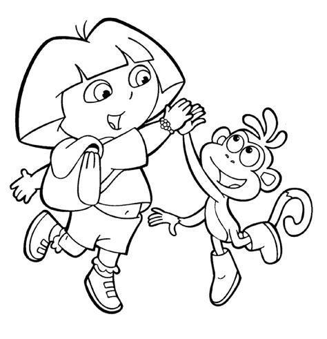 dora the explorer coloring pages free printable pictures