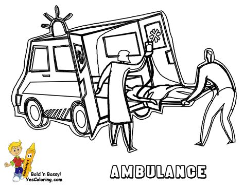Ambulance Coloring Pages Getcoloringpages Com Ambulance Pictures To Colour