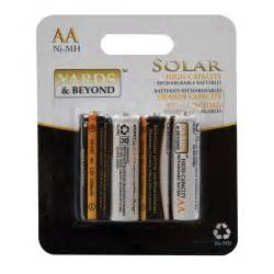 replacement batteries for solar lights yards beyond aa high capacity solar light replacement