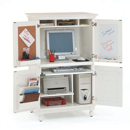 hton computer armoire white walmart