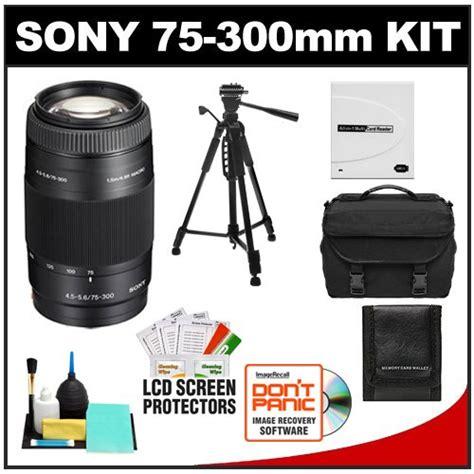 Lensa Sony Alpha 75 300 buy sony alpha 75 300mm f 4 5 5 6 zoom lens with tripod accessory kit for a33 a55