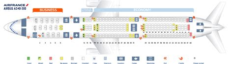 airbus a340 300 stoelindeling seat map airbus a340 300 air france best seats in plane