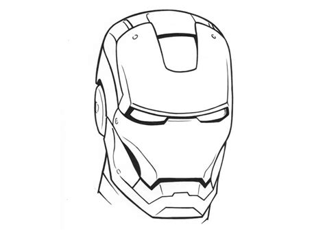 free coloring pages of iron man face