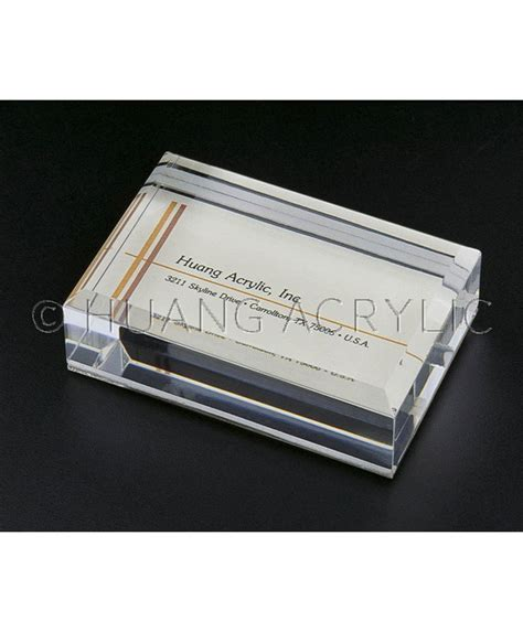 Business Card Paper Weight sliding in business card paper weight business card