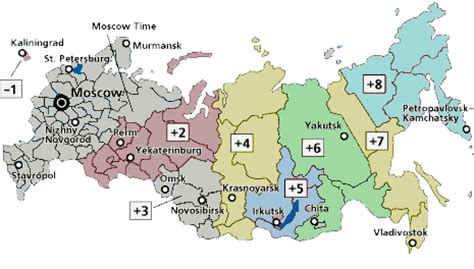 russian time zones | time zones in russia