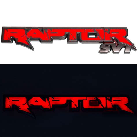 ford raptor logo 2010 2014 svt raptor recon illuminated rear tailgate
