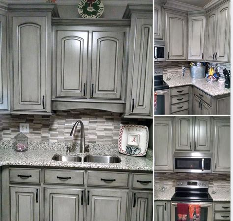 Grey And Black Kitchen Cabinets by Grey With Black Wax Kitchen