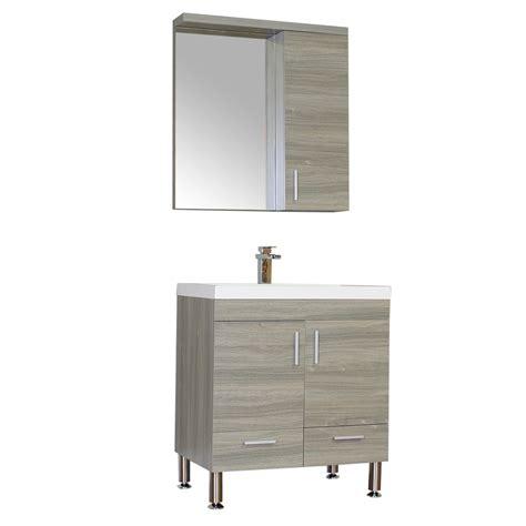 "ALYA AT 8085 G 30"" Single Modern Bathroom Vanity   Gray"